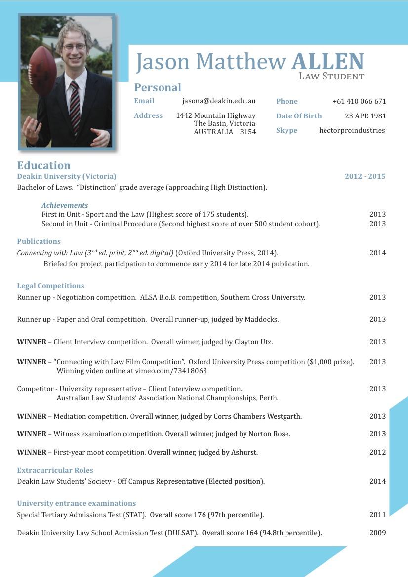 index of resumes
